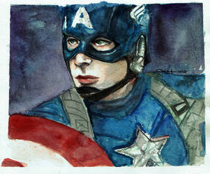 Captain America by littlemissmarikit