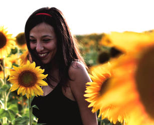 sunflower smile by sivel12001