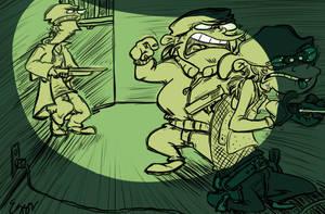 the heist by SweetLeggy