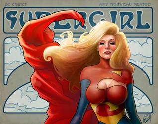 Supergirl Art Nouveau. by le0arts