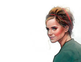 Emma Watson illustration by le0arts
