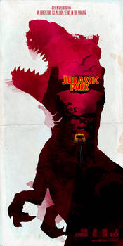 Inspired Movie Poster #2: Jurassic Park 1993 by le0arts
