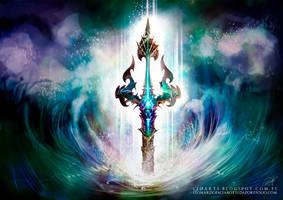 Tridente Poseidon Guerra De Mitos Leoarts Leon by le0arts