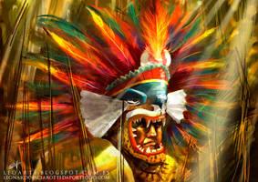 Cuatepoztli. Aztec Warrior for Guerra de Mitos. by le0arts