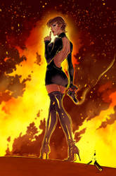 Cover GFT Inferno One Shot Zenescope (colors) by le0arts