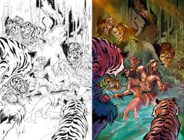 Jungle Book cover FOTW #3D Zenescope by le0arts