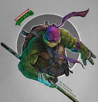 Teenage Mutant Ninja Turtles: Donatello by le0arts