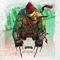 Teenage Mutant Ninja Turtles: Raphael by le0arts