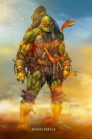 Teenage Mutant Ninja Turtles: Michelangelo (color) by le0arts