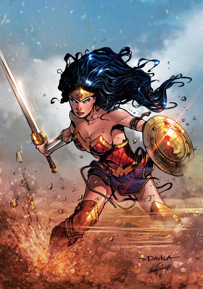 Wonder Woman 2017 DC COMICS (color) by le0arts