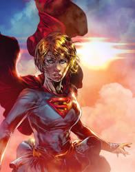 Supergirl DC COMICS (Colors) by le0arts