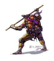 Donatello TMNT Color by le0arts
