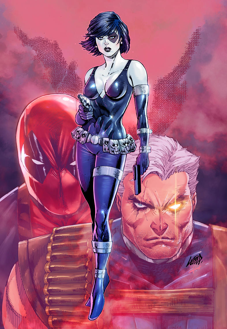 Domino #1 color MARVEL by le0arts
