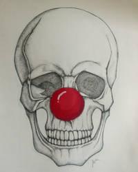 Dotwork clown skull by Jaxy666