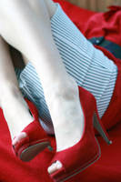red shoes by klamkazapadla
