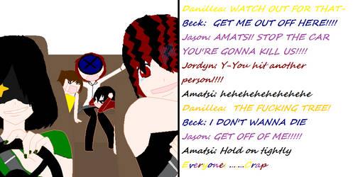 Never let Amatsi drive XD by okatugirls334
