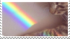 rainbow cat stamp by homu64