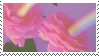 rainbow flowers stamp by homu64