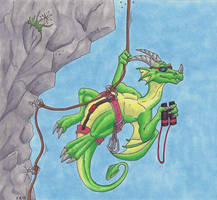 Climber Dragon by Psydrache