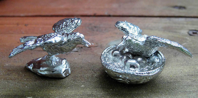 Pewter Mini-Crows by Psydrache