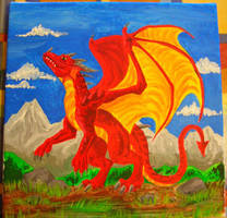 Roter Drache by Psydrache