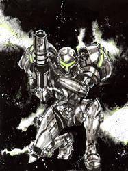 Samus Metroid by Graymalkin2112