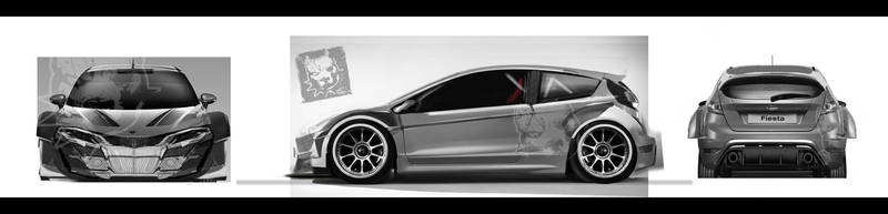 Ford Fiesta redesign widebody wip1 by RibaDesign