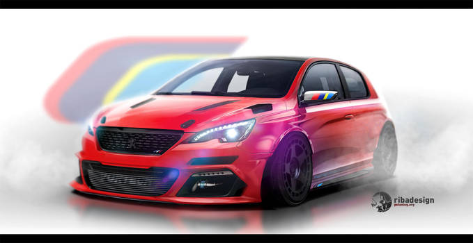 Peugeot 308 coupe concept by RibaDesign