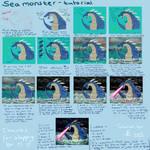 Sea monster tutorial - digital colouring by giantdragon