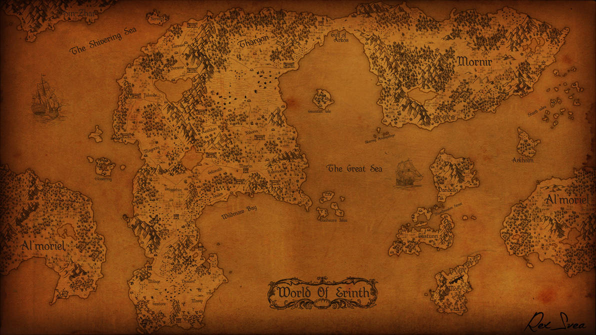 Map of Erinth by RexSvea