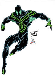 SPIDERMAN BLACK N' GREEN by CDL113