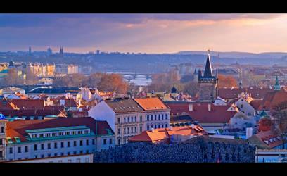 Overlooking Prague by KeldBach