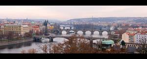 Vltava River Pano by KeldBach