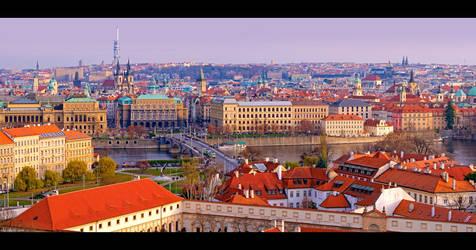 Panoramic View of Prague by KeldBach