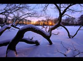 Sunset on the Ice by KeldBach