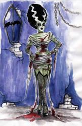 Bride of Frankenstein by koffinkandy