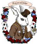 white rabbit by koffinkandy