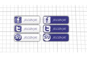 Social Icons Hand Written by psd-fan