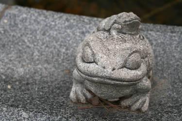 Frog in a temple in Cheongju by veternity