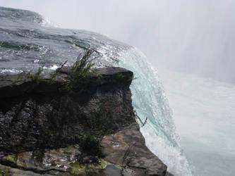 Water falling from rocks by Firija