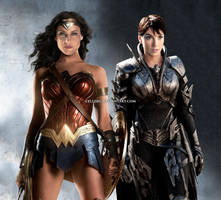Wonder Woman and Faora face swap by cellebg
