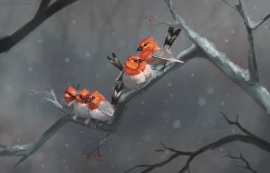 Winter Buddies by rajewel