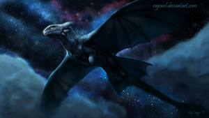 Flight of the Night fury by rajewel