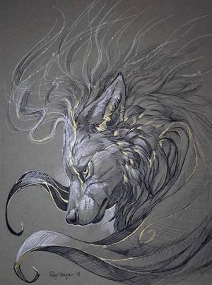Inktober - Spirit Flow by rajewel
