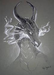 Inktober - Flames by rajewel