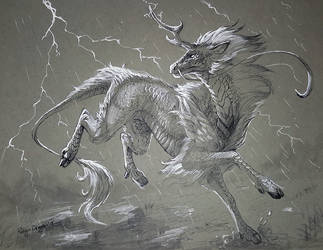 Inktober - Storm by rajewel