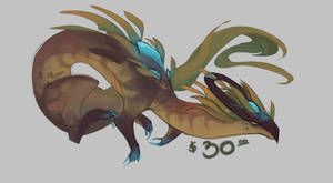 [$] Dragon Guardian - Sandy Seaweed by RuneaxDoodles