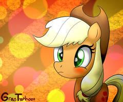 Applejack Blushes by GrayTyphoon