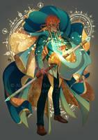 Wizard - FREE LINEART by Miss-Pannacotta
