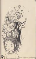 Doodle! Spirited Away by QueenTessenceII